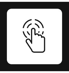 Cursor hand target icon simple style vector