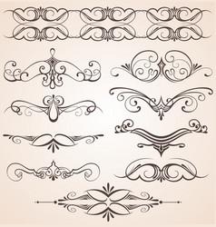 decorative vintage elements vector image