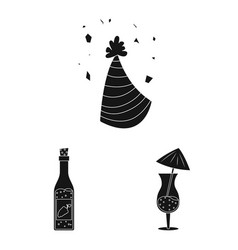 design of party and birthday symbol set of vector image