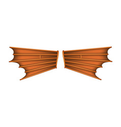 Desire to fly vintage wings vector