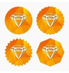 Diamond sign icon Jewelry symbol Gem stone vector image