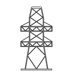 electricity tower icon vector image