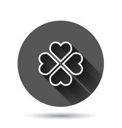 four leaf clover icon in flat style st patricks vector image