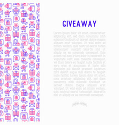 giveaway or gifts concept with thin line icons vector image
