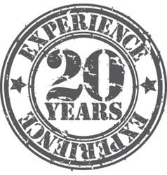 Grunge 20 years of experience rubber stamp vector image vector image