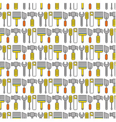 hammer and wrench pattern background vector image