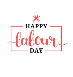 Happy labour day concept vector