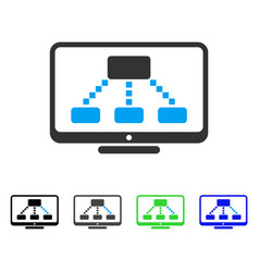 hierarchy monitor flat icon vector image
