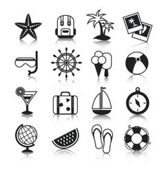 Holyday icons set vector image