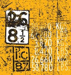 Industrial Markings vector image vector image