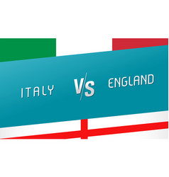 italy vs england letters versus sign for football vector image