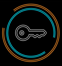 key icon - key symbol protection vector image