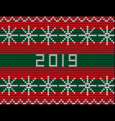 knitting seamless new year pattern with snow vector image