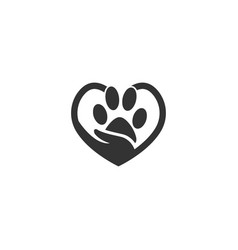 love pet logo design vector image