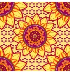 Mandala ornament seamless pattern vector