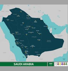 Map saudi arabia vector