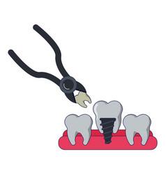 Medical dental treatment vector