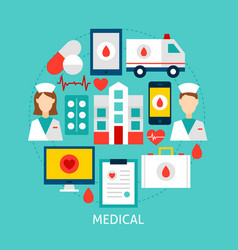 medical flat concept vector image