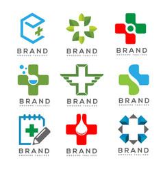 Medical logo concept set vector