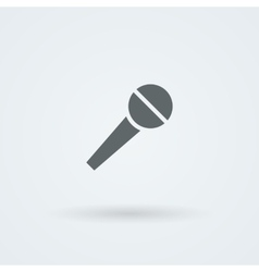 Microphone Icon Simple Pictogram vector image