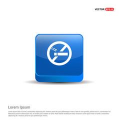 no smoking area - 3d blue button vector image