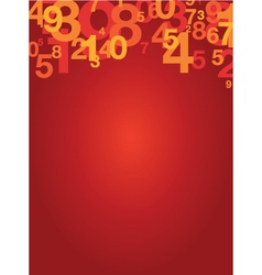 Number background vector