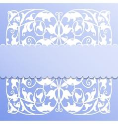 paper frame on blue background vector image