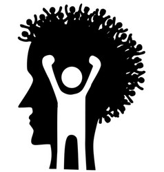 Peoples head profile stencil vector