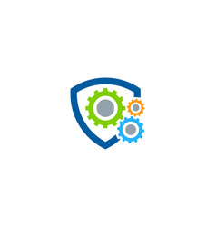 protection fix and repair logo icon design vector image