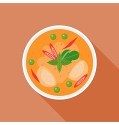 Red curry vector image