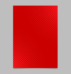 Red halftone dot pattern flyer template - vector