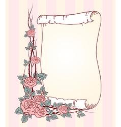 Roses paper vector
