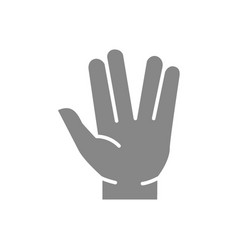 Salute gray icon what s up gestures symbol vector