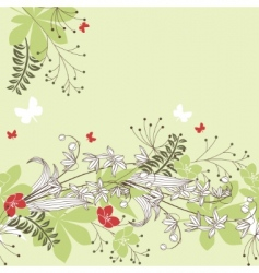 seamless horizontal floral pastel pattern vector image