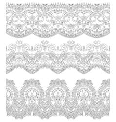 seamless ornamental floral stripes vector image