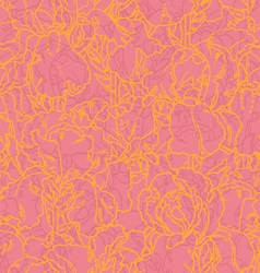 seamless pattern with outlined irises vector image