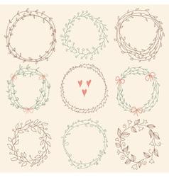 set floral frames vector image