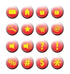 Set of button icon eps vector