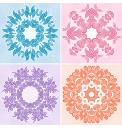 Set of ornamental patterns vector image vector image