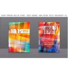 set of template layout annual reportflyer vector image