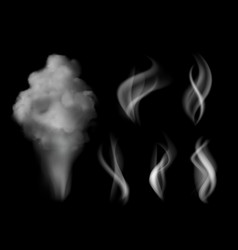 smoke realistic hot steam vape on kitchen smells vector image