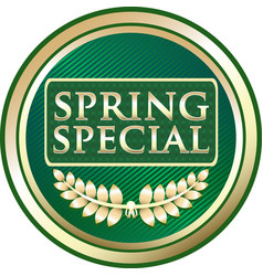 spring special icon vector image