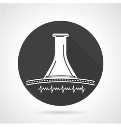 Stethoscope black round icon vector image vector image