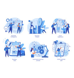 Strategic business planning automation process vector