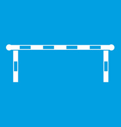 Striped barrier icon white vector