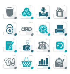 stylized website and internet icons vector image