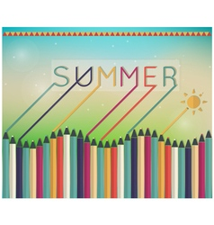 summer time Coloring pencils vector image