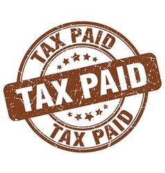 Tax paid brown grunge round vintage rubber stamp vector