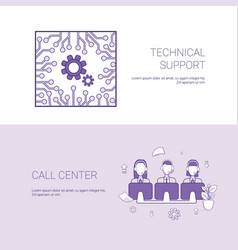 Technical support and call center service concept vector