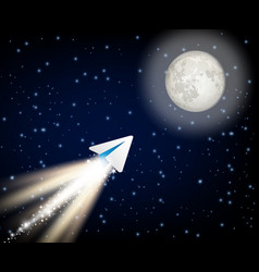 Telegram cryptocurrency flying to the moon like vector